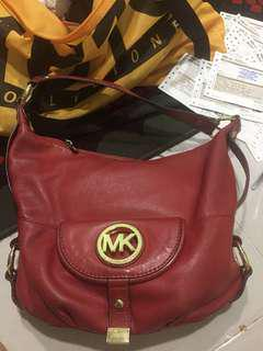 micheal kors leather handbag