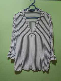 Bershka striped top Sz S