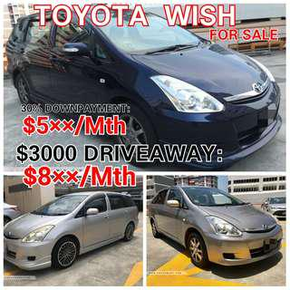 Toyota Wish. Rental or For Sale. 💯% LOAN APPROVAL.