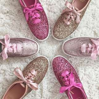 Keds x Kate Spade Rose Gold Glitter Sneakers