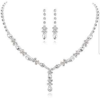 Bridal/Dinner Crystal Necklace and Earring set