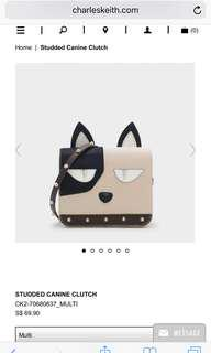 Charles & Keith Studded Canine Clutch