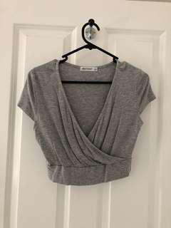 Grey Crop Tshirt