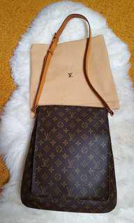 AUTHENTIC LOUIS VUITTON MUSETTE SALSA GM MONOGRAM
