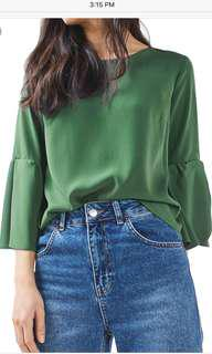 Green Top from Topshop