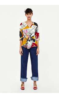 Zara top with knot