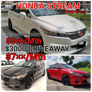 Honda Stream. Rental or For Sale. 💯% LOAN APPROVAL.