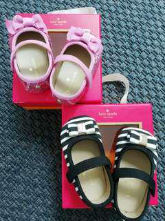Authentic Kate Spade Baby Girls Shoes 3-6m