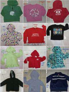 Jackets from 0-8yrs old