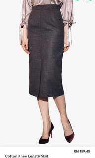 KODZ cotton knee length skirt