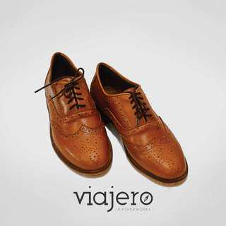 Women's genuine leather brogues
