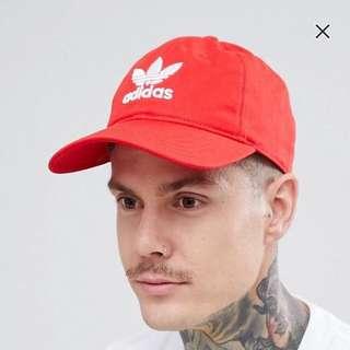 [PO] orange red adidas trefoil cap
