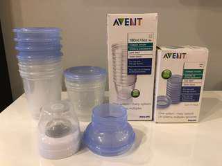 Avent Milk Storage Cups