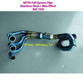 Mt09 (Stainless Steel + Blue Effect) Full System Pipe Rm1050