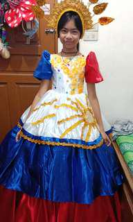 Filipiniana Gown and headress for teens