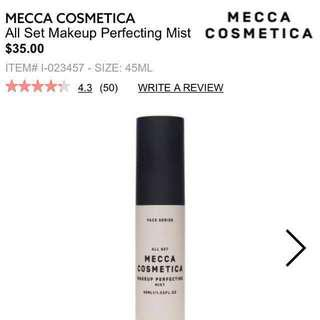 Mecca Cosmetica All Set Makeup Perfecting Mist