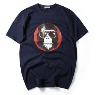XXL / 3XL / 4XL  plus size monkey ape tee t-shirt navy blue