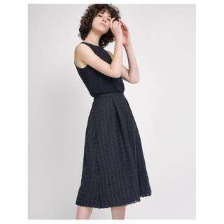 Saturday Club A-Line Dress With Guipure Lace Skirt