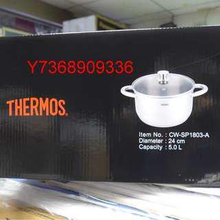 現貨~*Thermos膳魔師*不銹鋼24CM 5L雙耳湯鍋..可自取!
