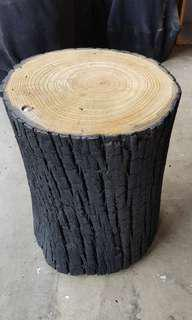 Solid Timber Log stool