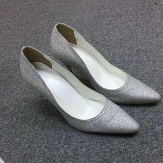 Blink Blink new Party Shoes,wedding shoes 全新訂做銀色閃閃高踭鞋