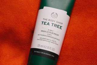 The Body Shop Tea Tree 3in1 Wash Scrub Mask 125ml