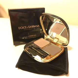 全新 D&G 乾濕兩用雙色眉粉  Dolce&Gabbana