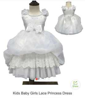 White Dress for baby girl ( lace princess dress)
