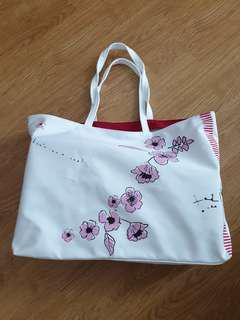 Clarins floral tote bag