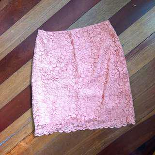 H&M Lace Highwaist Skirt