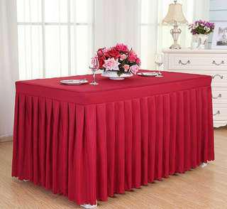 Home made tablecloth size: Lwh 120*60*75cm