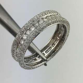 18K白金戒指 1卡53份鑽石 18K Withe gold Ring 1.53ct Diamond