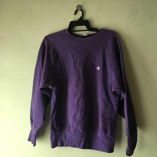Champion Purple Sweatshirt #mcsfashion