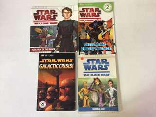 Star Wars set of 4 books (for young readers 6 and up)