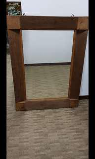 Antique teakwood mirror