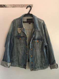 Forever21 Plus-size Ripped Jean Jacket
