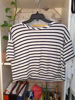 Slouchy striped top