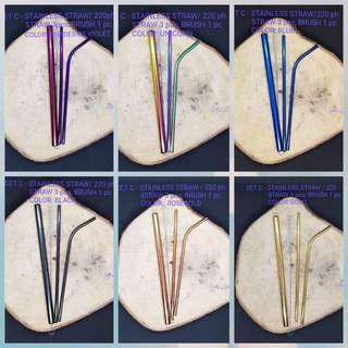 SET C STAINLESS STRAW