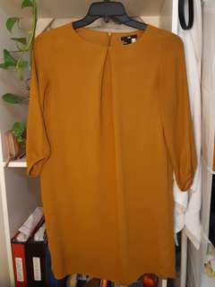 Mustard Long Sleeved Light Dress