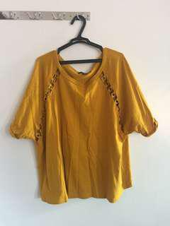Forever21 Plus-size Top with hoop details