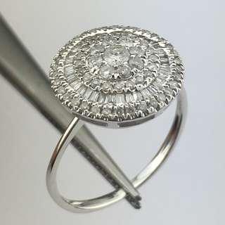 18K白金戒指 57份鑽石 18K Withe gold Ring 0.57ct Diamond