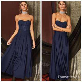 Popcherry Size S(8) Blue Maxi Formal Dress