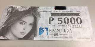 Montesa Medical Gift Certificate