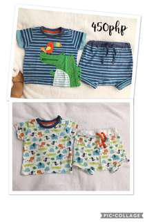 Cute T-shirt and Short Pants (2 Pairs) ✖️ 3-6-9 months
