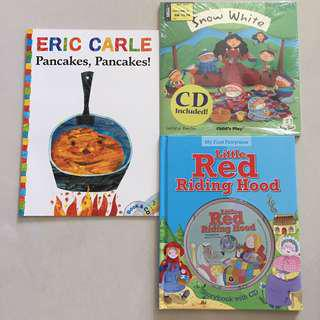 Book with CD- Eric Carle, Little Red Riding Hood, Snow White