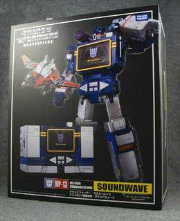 KO MP Soundwave with Rumble, Frenzy and Laserbeak - BIB Transformers