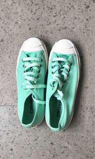 Converse jack purcell mint green canvas sneakers