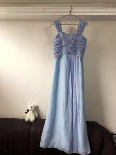 淺藍紫色姊妹裙 Dutch Blue Dress