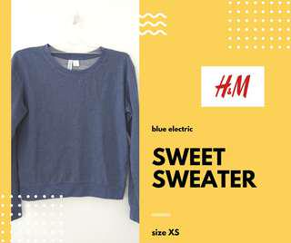 Sweet Sweater in Blue Electric by H&M #MauiPhoneX