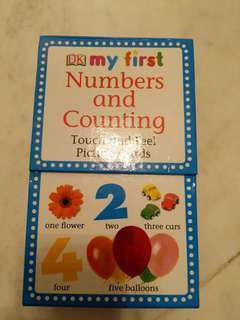 Almost new DK Touch Feel Number Counting Flashcard